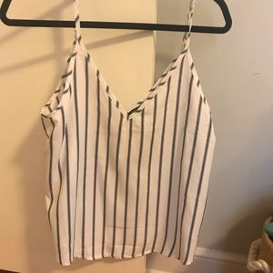 Striped blue and white tank. Never worn!